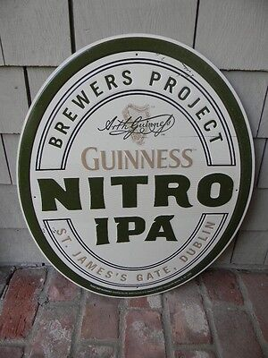 2015 New Old Stock Guinness Nitro Ipa Beer Tin Sign St. James Gate Dublin Harp