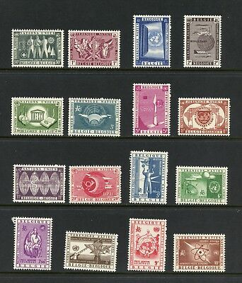 Belgium 1958 #516-25, C15-20  United Nations UNESCO WHO UPU 16v.  MNH  L620