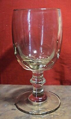 Antique LARGE Thick Glass Goblet Heavy Unusual Early Glassware Display Piece
