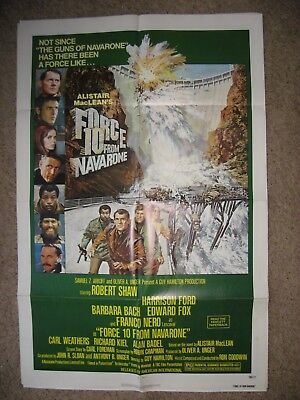 Force 10 From Navarone- Harrison Ford- 1 Sheet Movie Poster - 1978
