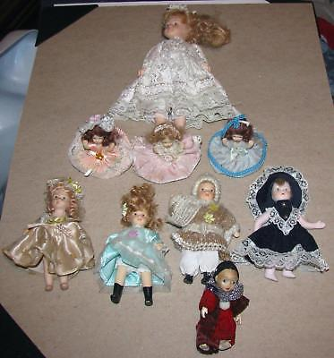Estate Lot 9 Vintage Porcelain Dolls