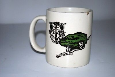 U.S Military Special Forces Group cup coffee cup White porcelain