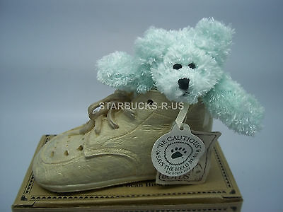 Boyds 2002 New Bear-Foot Lissy Baby Steps Resin Shoe W/ Plush Baby Bear Gift