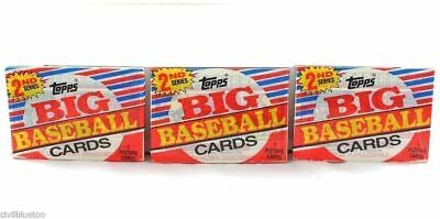 Lot of 3 Wax Packs 1988 Topps Big Baseball Cards 2nd Series Factory Sealed