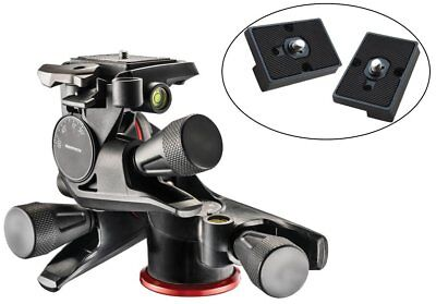 Manfrotto MHXPRO-3WG XPRO Geared Head with Two Calumet Quick Release Plates for