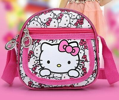 Kids Girls Hello Kitty Cross Body Bag Crossbody Shoulder Messenger Travel New