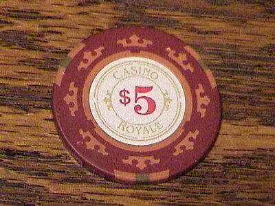 James Bond 007 Casino Royale $5 Poker Chip Reproduction for Movie
