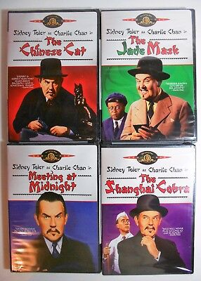 LOT OF (4) DVDs SIDNEY TOLER'S CHARLIE CHAN COLLECTION - BRAND NEW SEALED