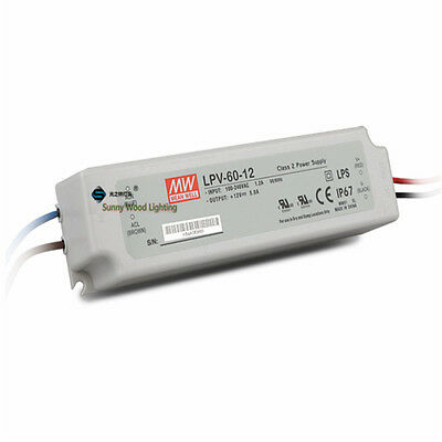 UL LPS IP67 Class 2 60W 12V 5A Power supply ,waterproof led driver for outdoor