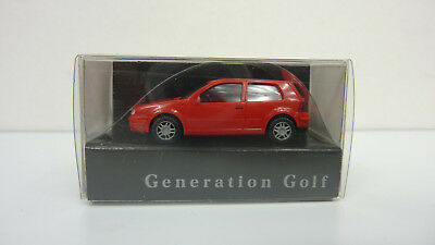 "Wiking 1:87 VW Golf ""Generation Golf"" in rot in OVP (A469)"