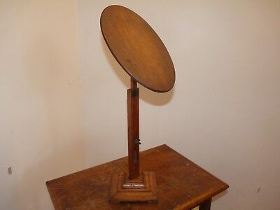 Antique Vintage Oak Shop Hat Display Stand, Articulated,extending,retail,clothes