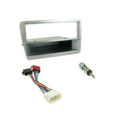 Honda Civic Car CD Stereo Radio Single DIN Silver Facia Fascia Fitting Kit Panel
