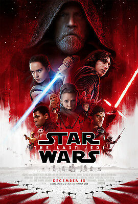 "Star Wars Episode VIII The Last Jedi Final Theatrical Poster D/S 27x40"" New"
