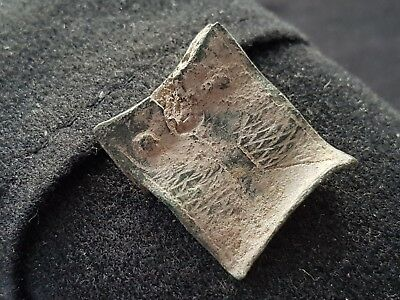 Nice Medieval buckle plate found in England uncleaned condition L37d