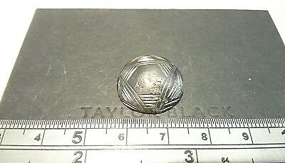 Beautiful early medieval silver button stunning markings L6x