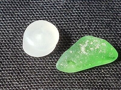 Two tiny Ancient Greek lost unfinished gem stones for probably necklace ? L10x