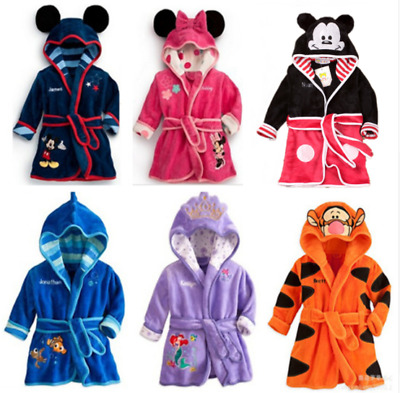 Children Pajamas Robe Kids Clothes Boys Girls Micky Minnie tiger Bathrobes Baby