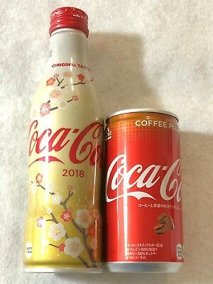 Coca Cola japan Slim Full Bottle New Year 2018 special UME & Coffee Plus Limited