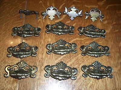 vintage CONT. B 1989 brass drawer pull handles lot of 9 plus 4