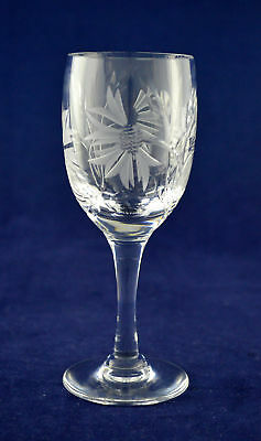 "Royal Brierley Crystal ""CORNFLOWER"" Sherry / Port Glass – 13.3cms (5-1/4″) Tall"