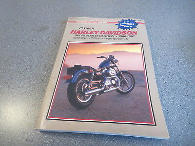 Used clymer harley davidson 1340cc evolution 1984 1986 repair harley davidson clymer service manual 1986 to 1987 sporster clean fandeluxe Choice Image