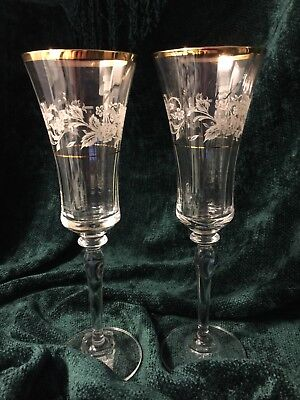 "Mikasa ""Antique Lace"" ""Champagne Flute"" -- One Pair"