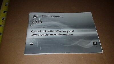 2017 Buick Chevy Gmc Canadian Limited Warranty & Owner Assistance Information