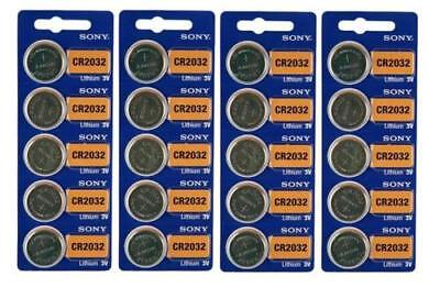 Sony Genuine Fresh Date CR2032 2032 Lithium 3V Batteries Exp 2027 (25 pieces)