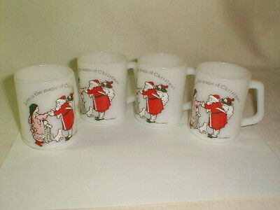 Holly hobbie 1970s coffee cups mint love is the magic of Christmas federal glass