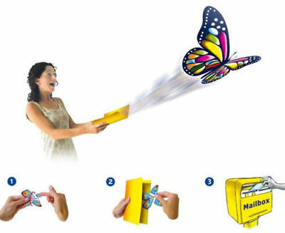 10x Flying Butterfly  Surprise greeting Card book Magic Toy fly wind upWholesale