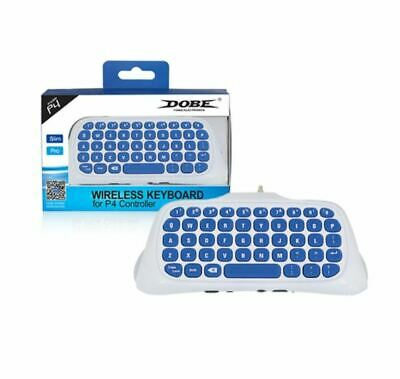 White Wireless Controller Keyboard Game Chatpad For PS4 / PS4 Pro / PS4 Slim
