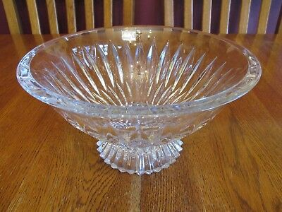 Beautiful Mikasa Slovenia Meridian Large Crystal Footed Centerpiece Bowl ~ Label