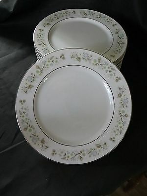 Imperial China Wild Flowers Made in Japan W. Dalton #745 Dinner Plate  Set of 8