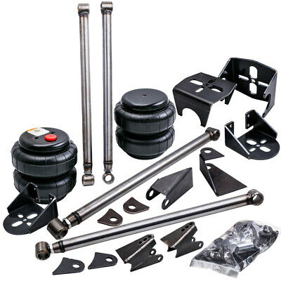 TRIANGULATED 4 LINK Kit Brackets+2500 Bags Air Ride Suspension