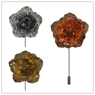 Small Metal Men's Suit brooch chest buckle brooch flower lapel pin Prom Wedding