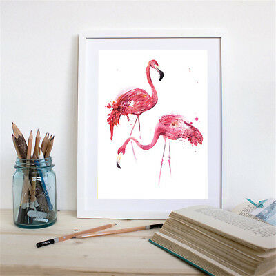 ular Flamingo Canvas Art Print North Animal Painting Wall Picture No FrameLJ