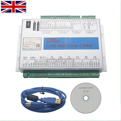 Upgrade Mach3 6Axis Motion Controller Card USB Port CNC Breakout Board 2MHz UK