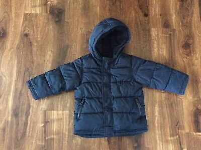 bac2f6383 OLD NAVY HOODED Frost Free Puffer Coat Toddler Boy Size 3T Navy Blue ...