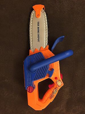 """Home Depot 15"""" Toy Chainsaw Spinning Chain & Sounds Euc"""