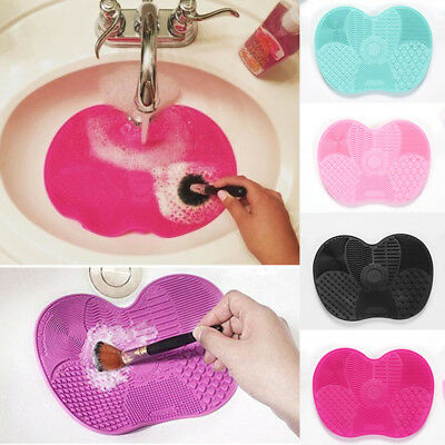 1PC New Makeup Brush Cleaner Pad Solid Color Silicone Washing Scrubber Small
