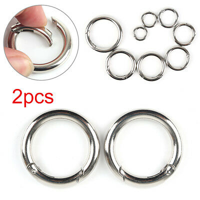 Poussoir rond pression Snap Open Hooks Spring Ring Mousqueton Camping Snap DS59
