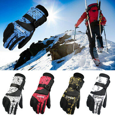Top  Men Women Winter Ski Gloves Waterproof Snowboard Gloves Cycling Gloves