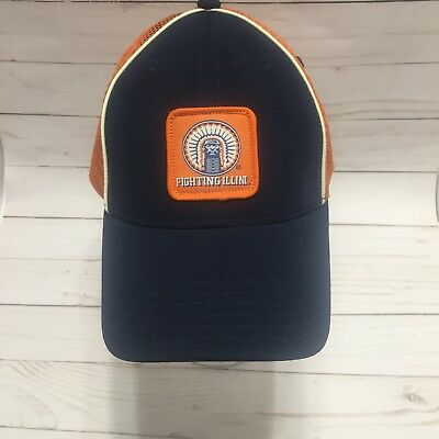 on sale 3a2c0 efde5 ... netherlands illinois fighting illini hat chief illiniwek mesh trucker  baseball cap 1a9b0 5ab34