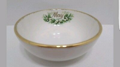 ROYAL ALBERT Flower of the Month MAY Lily of the Valley Nut Open Sugar Bowl RARE