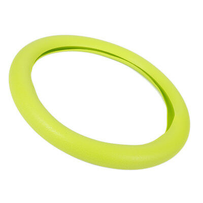 Universal Green Soft Silicone Steering Wheel Cover 36-40cm Odorless Eco Friendly