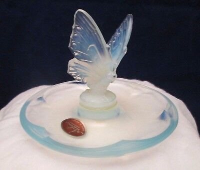 SABINO Opalescent Butterfly Open Wing Dish Signed France + Paris + Original Tag