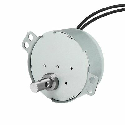 uxcell Synchronous Motor AC 110V 50/60Hz 15RPM CW Torque 4W Turntable Gear Box
