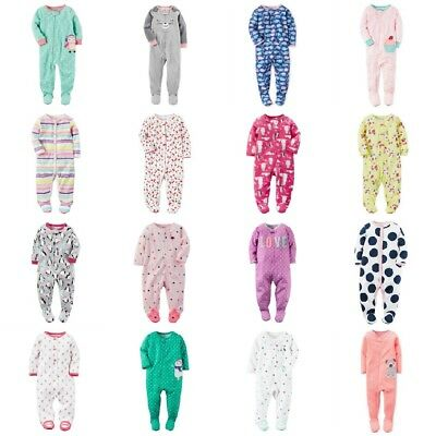 NWT Carters Infant Girl Footed Blanket Sleeper Sleep & Play Pajamas ASSORTED