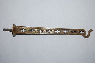 Antique  Ornate  Cast  Brass Plant Wall  Hook
