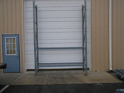 "Used Teardrop Pallet Rack Shelving Unit Racking 24"" Deep x 12' Tall"